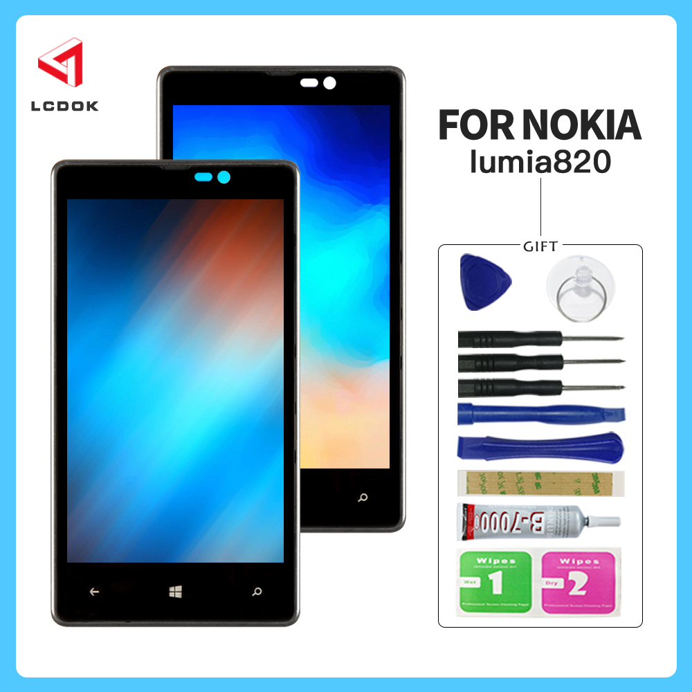 100% Tested <font><b>Screen</b></font> For Nokia <font><b>Lumia</b></font> <font><b>820</b></font> RM-824 RM-825 RM-826 LCD Display Touch <font><b>Screen</b></font> Digitizer Assembly Panel Replacement Parts image