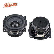 Ghxamp 3 Inch Full Range Speaker 8ohm 15W Woofer 77Mm Luidspreker Rubber Rand Geweven Wastafel Voor 2.0 Surround speaker 2 Stuks