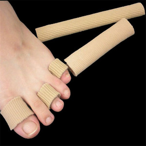 15cm Silicone Cover Cut Toe Set Rib Fabric Gel Tube Sleeve Cap for Hammer Toe Finger Separation Protector Foot Care Finger Toe(China)