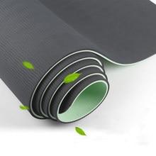 Нескользящий Спортивный Коврик для йоги из ТПЭ с нежной текстурой для фитнеса, пилатеса, упражнений в спортзале для тренировок, 183 см * 66 см * 6...