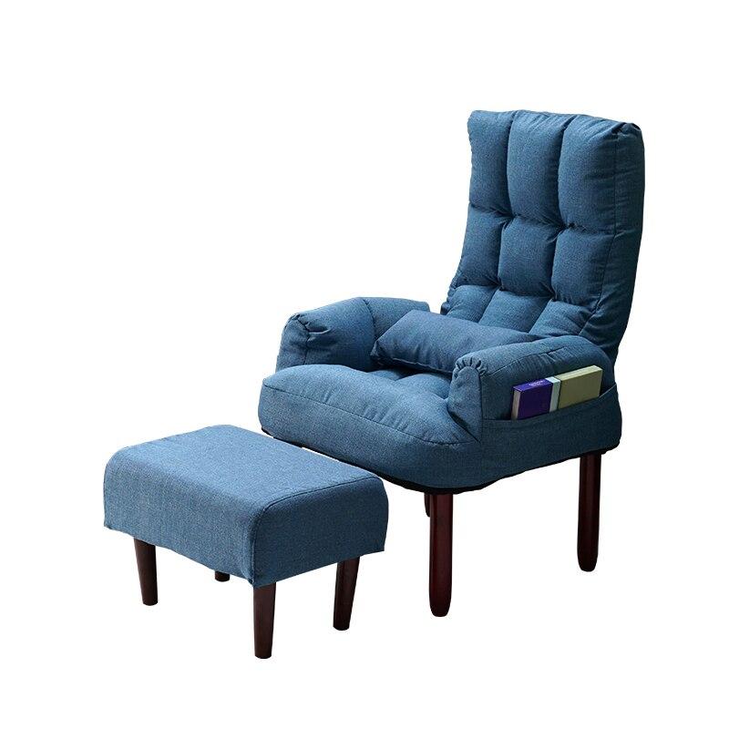 Single Small Sofa Bedroom Female Lazy Chair Lazy Sofa Net Red Models Feeding Cute Sofa Chair Balcony Lounge Chair