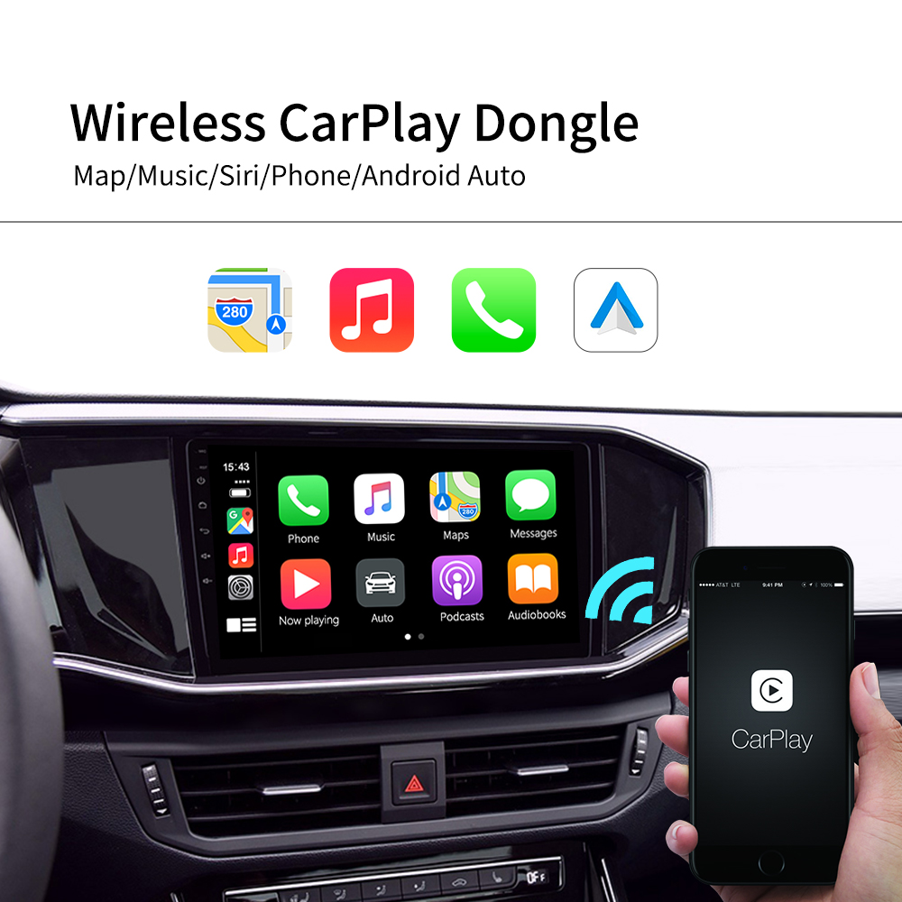 lowest price Carlinkit Android Auto Dongle Apple Wireless CarPlay Dongle USB Smart Link For Android Navigation Player Mirrorlink  IOS 13
