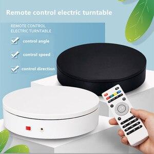 Plato giratorio eléctrico de rotación de 20cm y 360 grados con soporte de pantalla en vivo de productos de fotografía de escaneo 3D con Control remoto