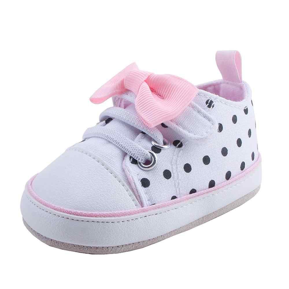 יילוד תינוק בנות בני בד Sneaker אנטי החלקה הראשונה הליכונים רך בלעדי נעלי תינוק נעלי יילוד 0916