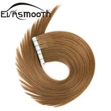 Human-Hair-Extension Natural-Hair Adhesive Skin-Weft-Machinehuman Tape-In Remy 20pcs