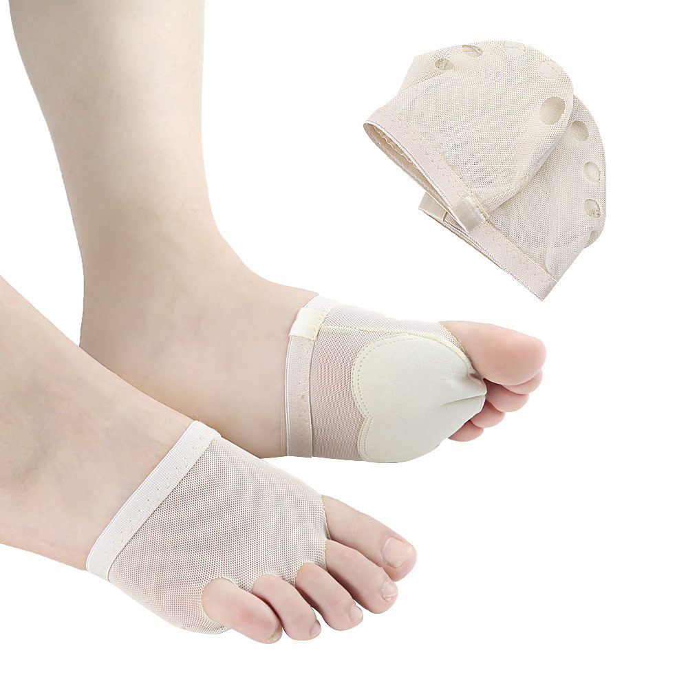 Five-hole Forefoot Nursing Care Protection Toe Pad Palm Shoe Cover Anti-Wear Shoes Cover Practice Dance Supplies