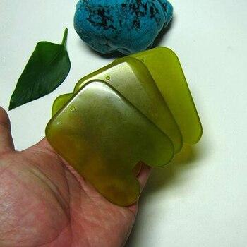 High quality! Thicken! wholesale & retail body massage guasha kit facial beauty plate square fat waist 100% jade