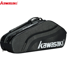 Bag Badminton-Bag Kawasaki Racquet Sports for 6 Kbb-8655/8656 Gray Basic-Series Large-Capacity