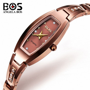 Relogio Feminino ANGELA BOS Women Watches Top Brand Luxury Bracelet Watch Womens Waterproof Gold Quartz Wrist Watch Clock Saat fashion gold bracelet watches women top luxury brand ladies quartz watch woman wrist watch clock relogio feminino montre femme