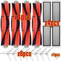 4 * HEPA-Filter + 8 * Seite Pinsel + 4 * Wichtigsten Pinsel für XIAOMI MI Roboter 1/2 Generation roborock S50 S51 Staubsauger Teile ersatz
