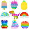 Fidget Toys Pack Its Square Antistress New Push Bubble Rainbow Pop For Hands Popins Squishy Pops Reliver Stress For Adults