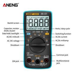 Image 5 - Цифровой мультиметр ANENG AN8001, профессиональный, 6000 отсчетов, тестер конденсаторов, универсальный тестер напряжения