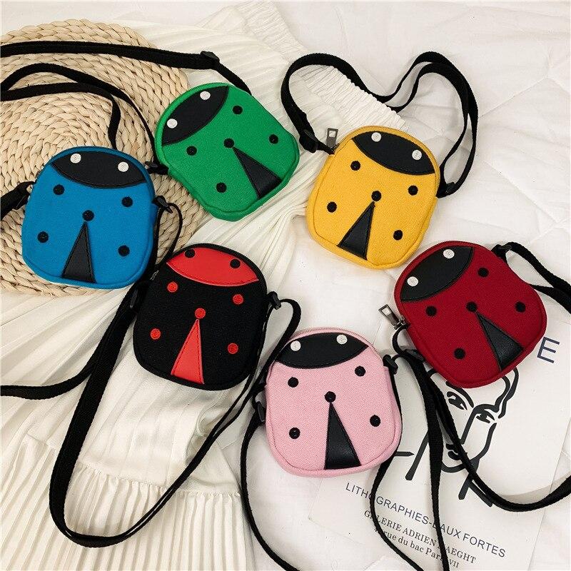 Coin Purse Ladybug-Pattern Girls Children Money-Bags Canvas Mini Boys Cute Cartoon New-Fashion