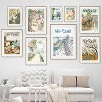 Vogue-cuadro sobre lienzo para pared, carteles nórdicos e impresiones de fotos de pared para sala de estar, decoración Vintage, New York
