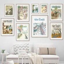 Toile d'art mural avec affiches et imprimés nordiques, photos murales pour salon, décor Vintage
