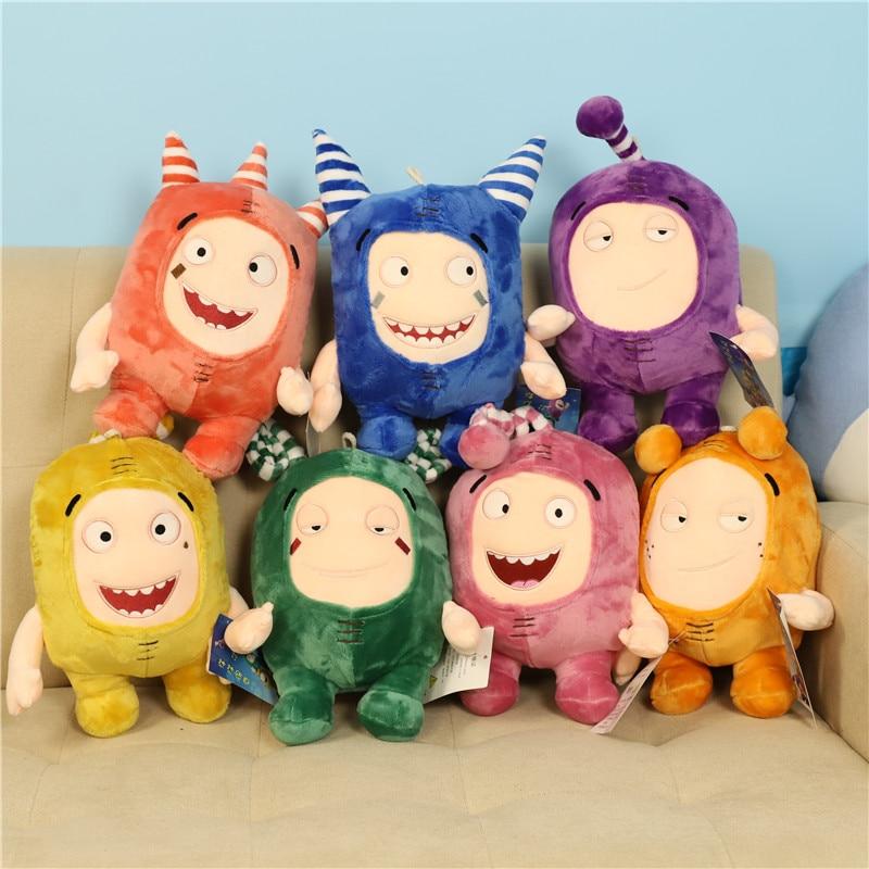 2020 New Oddbods Cartoon Buuble Pogo Zee Jeff Fuse Slick Plush Toys Cute Stuffed Dolls For Kid Birthday Gift 35cm