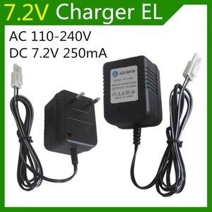 Зарядное устройство 7,2 в 7,2 мА для аккумуляторов 110 в AA NiCd и NiMH, зарядное устройство для радиоуправляемых игрушечных автомобилей, разъем EL, пе...