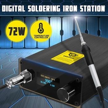 220V Soldering Station Electric Welding Iron OLED Digital Soldering Iron Temperature Controller Welding Iron Tips Equipment Set