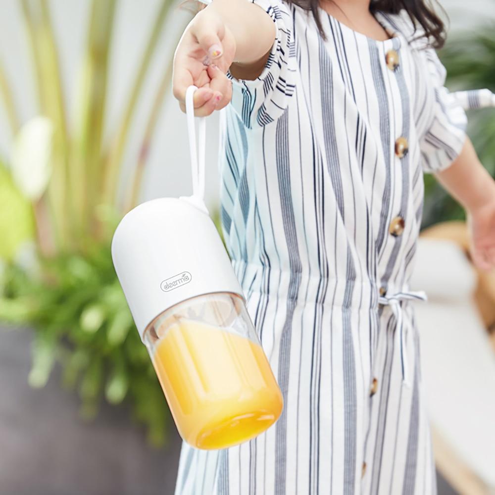Origianl Deerma 300ml Portable Lemon Orange Juicer Blender Mini Capsule Shape Electric Juice Cup DEM-NU01 6