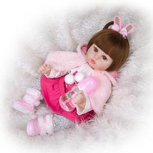 Image 3 - KEIUMIน่ารักซิลิโคนเด็กทารกRebornตุ๊กตา48ซม.Charming Reborn Bonecaกระต่ายเด็กวัยหัดเดินสวมเสื้อคลุมสำหรับเด็กวันเกิดPlaymate