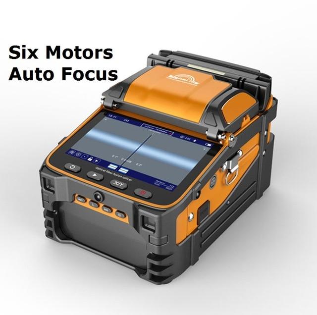 AI 9 Automatic SM&MM Multi language Intelligent FTTH Fiber Optic Splicing Machine Optical Fiber Fusion Splicer