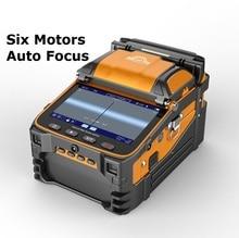 Emenda automático de fibra ótica de AI 9 sm & mm, multi idioma, máquina de emenda de fibra ótica ftth inteligente