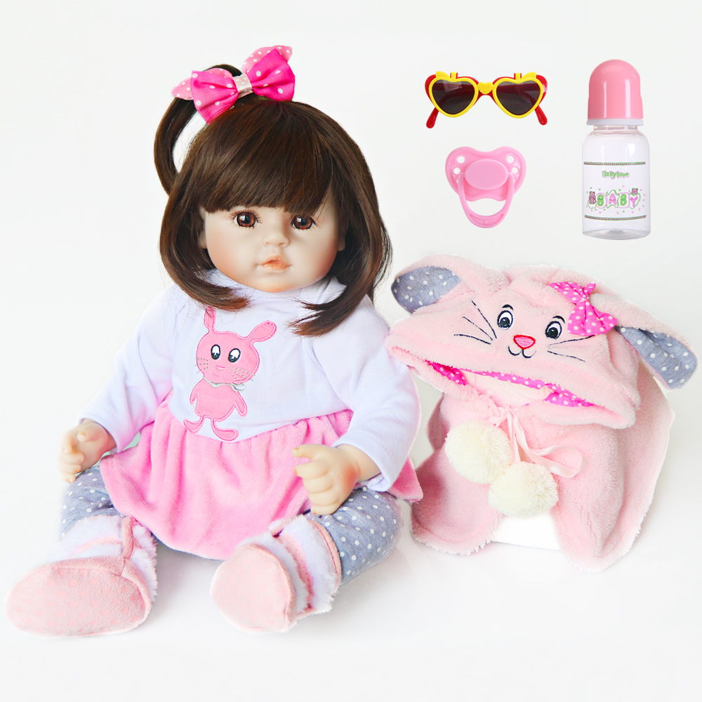 Réaliste Reborn poupée 19 pouces réaliste à la main en silicone souple reborn bambin bébé poupées cadeaux de surprise de noël lol jouet