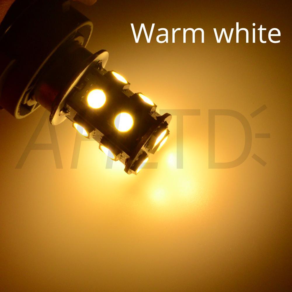 hviero 1156 BA15S P21W 1157 BAY15D Red Strobe Lamp 5050 13SMD Super Bright LED Bulbs 12V Car Brake Turn Signal Tail Flashing Light DC 12V 14