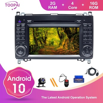 TOOPAI Android 10 For Benz W169 W245 B160 B170 B200 W639 Vito W906 Sprinter Car Multimedia Player GPS Navi DVD Auto Radio Stereo image