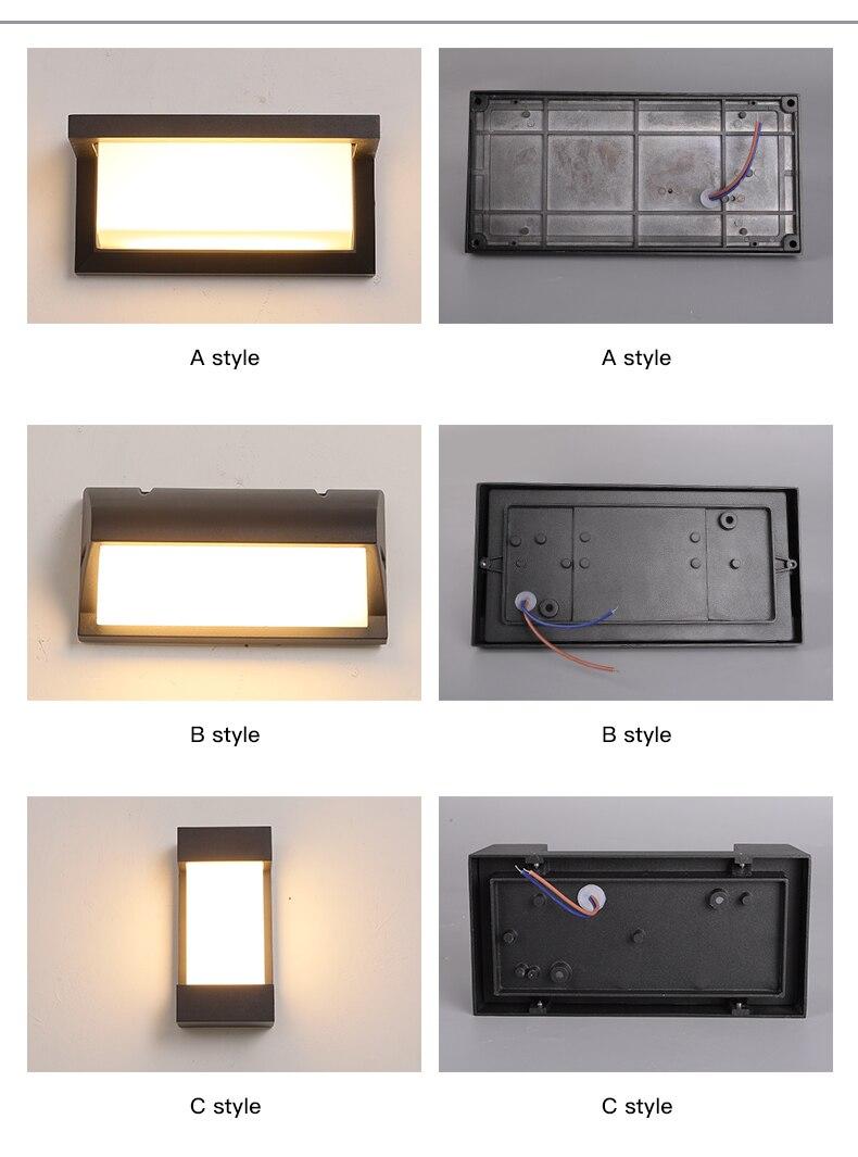 da multi-forma da luz de parede do