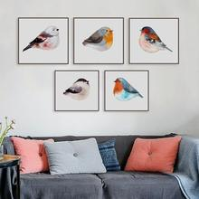 Light Art Nordic Modern Fresh Animal Bird Watercolor Living Room Bedroom Decorative Painting Poster Wall Canvas Posters