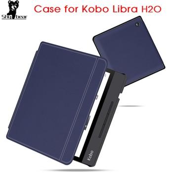 цена ultra slim case for 2019 released new Kobo Libra H2O smart stand cover for kobo 7'' inch e-reader N873 auto sleep/wake онлайн в 2017 году