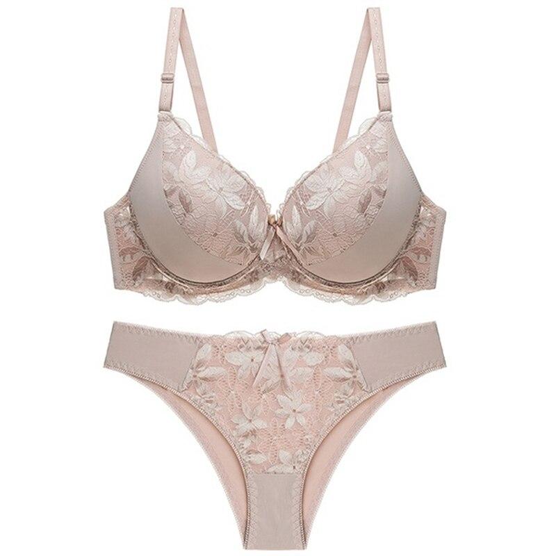 Сексуальный кружевной комплект нижнего белья, однотонный цветочный глубокий v-образный вырез, женское нижнее белье с глубоким вырезом