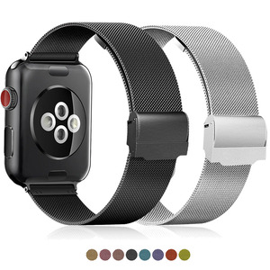 band compatible For Apple Watch series 12 3 4 5 42mm 38mm strap for iwatch watchband 40mm 44mm Milanese Stainless Steel Bracelet