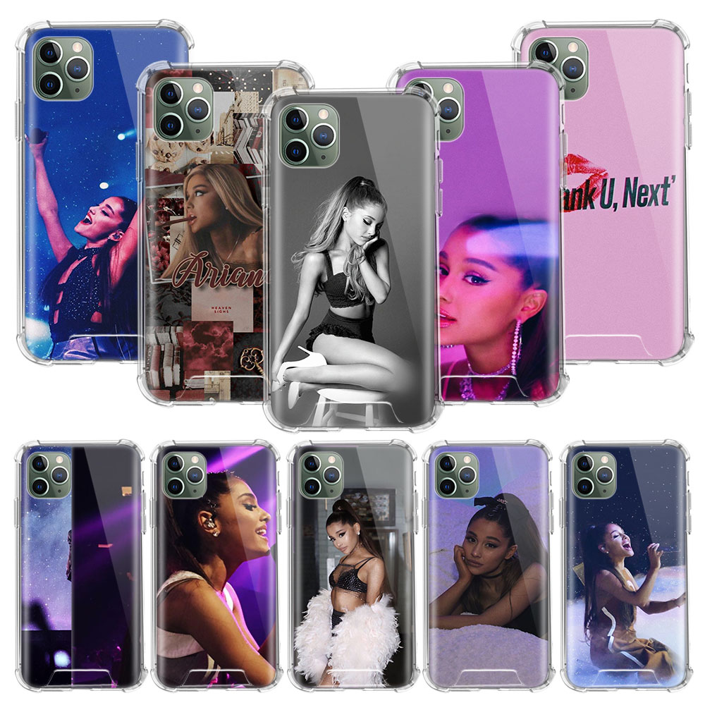 <font><b>Ariana</b></font> <font><b>Grande</b></font> Thank <font><b>Case</b></font> For Apple <font><b>iphone</b></font> 11 Pro Max XS XR X 8 7 6 <font><b>6S</b></font> Plus Clear Soft Airbag Anti Carcasa Phone Coque image