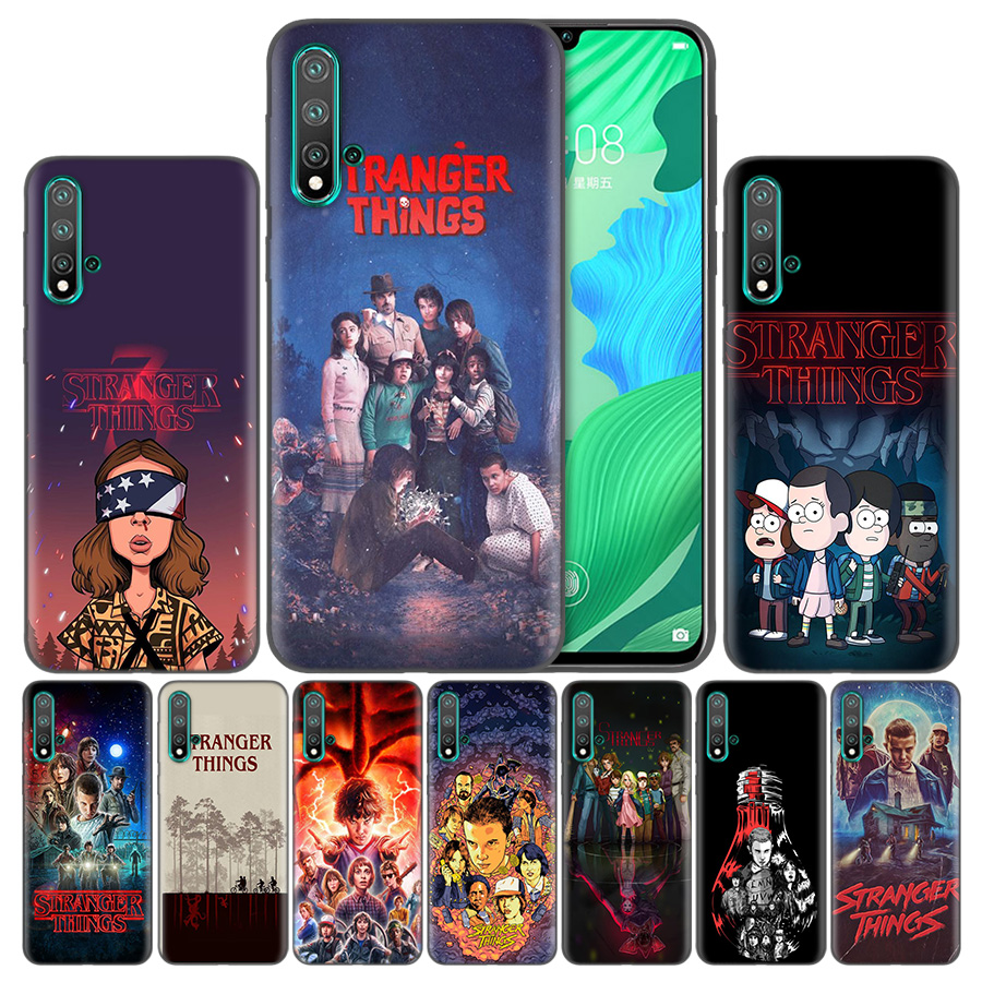 <font><b>stranger</b></font> <font><b>things</b></font> poster Bag Soft <font><b>Phone</b></font> <font><b>Cases</b></font> For <font><b>Huawei</b></font> Honor 20 <font><b>P20</b></font> P Smart Z Nova 5 Y6 Y7 Y9 <font><b>lite</b></font> Pro Plus 8X 2019 Cover Coque image