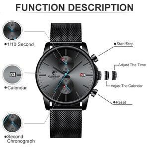 Image 3 - Männer Uhr CHEETAH Top Luxus Marke Uhren Herren Edelstahl Quarz Armbanduhr Chronograph Datum Männlich Uhr Relogio Masculino