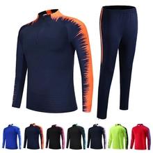 Детский Взрослый футбол, трикотажный комплект, Survete, мужские футбольные комплекты, мужские детские куртки для бега, спортивный тренировочный костюм, униформа, костюм