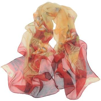 New Arrival 2020 Spring And Autumn Chiffon Women Scarf SILK SCARF Geometric Pattern Design Long