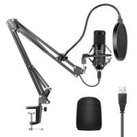 Neewer USB Mikrofon, 192KHZ/24Bit Super Kondensator Mikrofon für YouTube Vlogging, Spiel Streaming, Podcasts, skype Anrufe