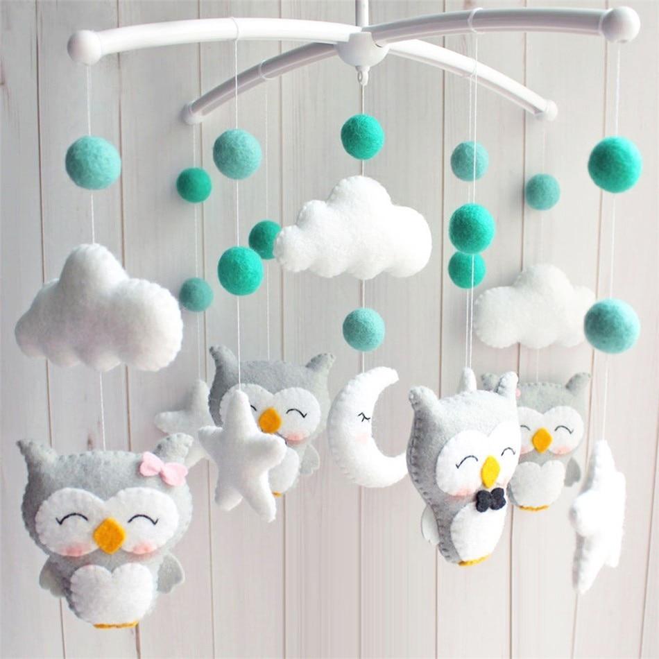 Baby Crib Holder Rattles Bracket Set Clockwork Music Box DIY Bed Bell Material Package Toy Pregnant Mom Handmade Toys For Baby