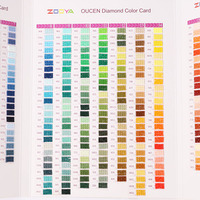 ZOOYA 5D DIY diamond painting color chart square / round diamond embroidery DMC chart finished