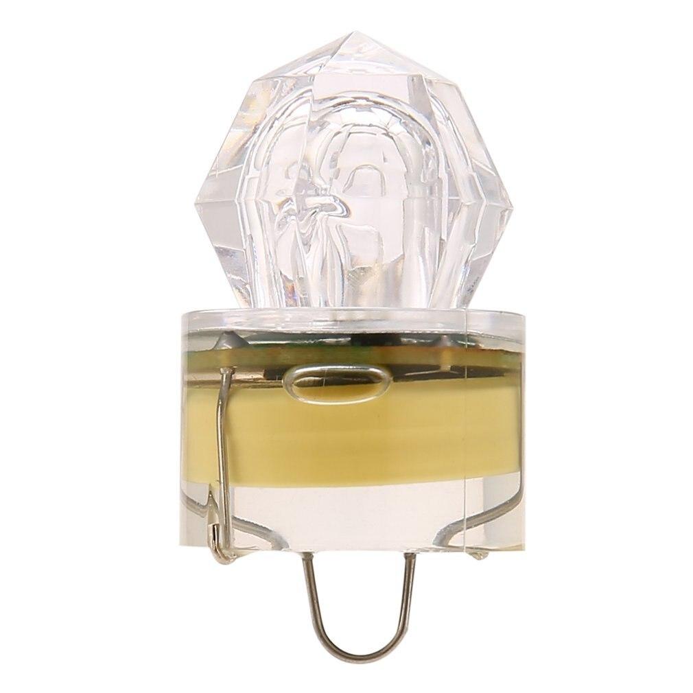 Fishing Flashing Light  LED Deep Drop Underwater Diamond  Bait Lure Squid Strobe Free Shipping 5 Colors Drop Shipping Worldwide