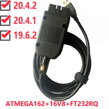 Vag com 20.4.1 vagcom 20.4.2 hex v2 interface usb para vw audi skoda seat vag 20.4.1 multi-linguagem atmega162 + 16v8 + ft232rq