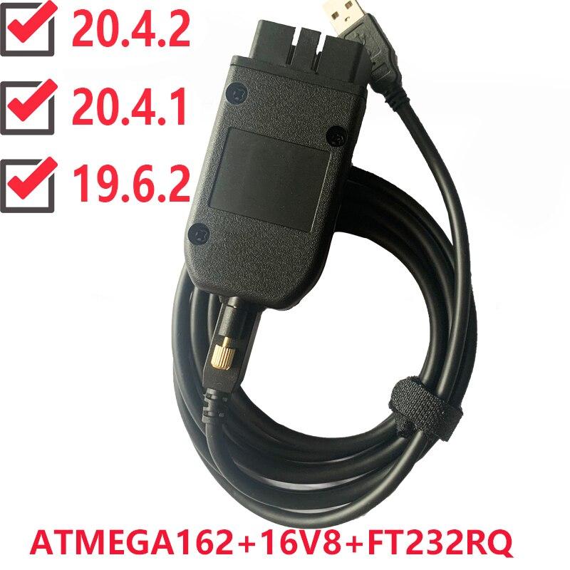 Vag com 20.4.1 vagcom 20.4.2 hex v2 interface usb para vw audi skoda seat vag 20.4.1 multi-linguagem atmega162 + 16v8 + ft232rq