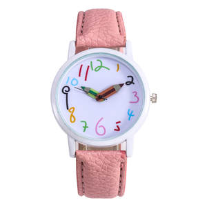 Women Watches Female Clock Strap Numbers Quartz Pencil for Casual Reloj Mujer Lovely