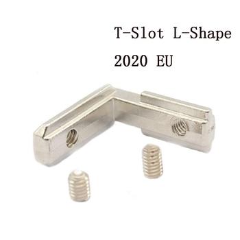 5/10/20 stücke T-Slot L-Form 2020 Aluminium Profil Interne Ecke Joint Halterung Stecker für 2020 alu profil mit m4 schraube