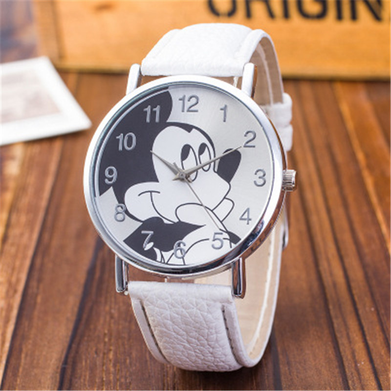 Children Women Ladies Girl Quartz Watches Fashion Leather Kids Wrist Watch Clock Cartoon Female Relogio Feminino 8O55