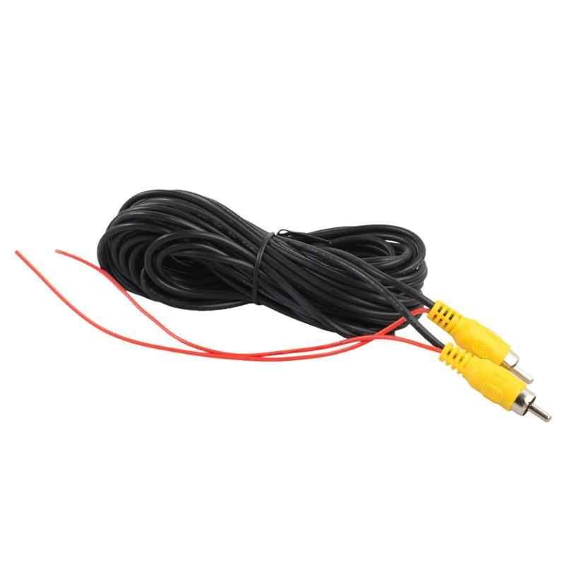 VODOOL 6m tipo RCA para coche vista trasera de marcha atrás de coche aparcamiento cámara Video Cable retrovisor con Cable de disparo de vídeo para todos los accesorios de coche Cable