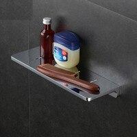 Bathroom Shelf Solid Brass Bath Shower Rack Chrome Shower Shelf Bath Holder Bolt Inserting Type Corner Shelf Bath Hardware